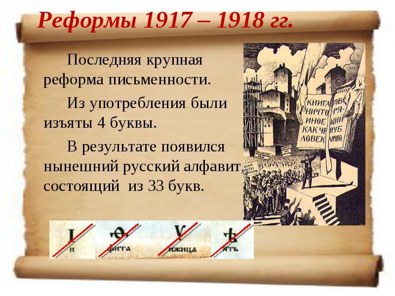7 тайн реформы русского языка 1918 года
