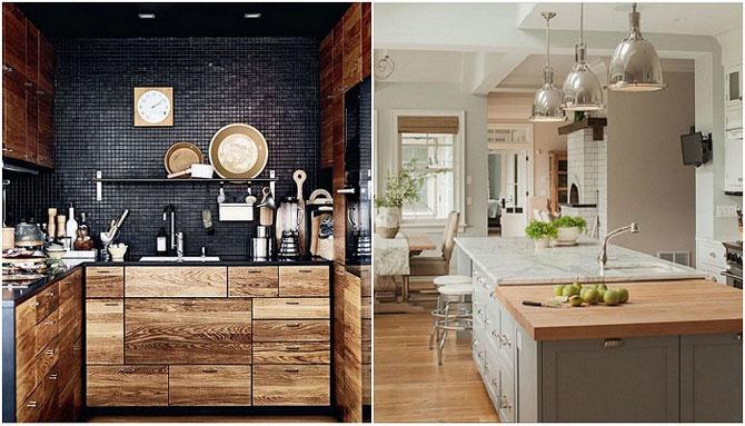 Кухня в деревянном стиле: 20 необычных варианта
