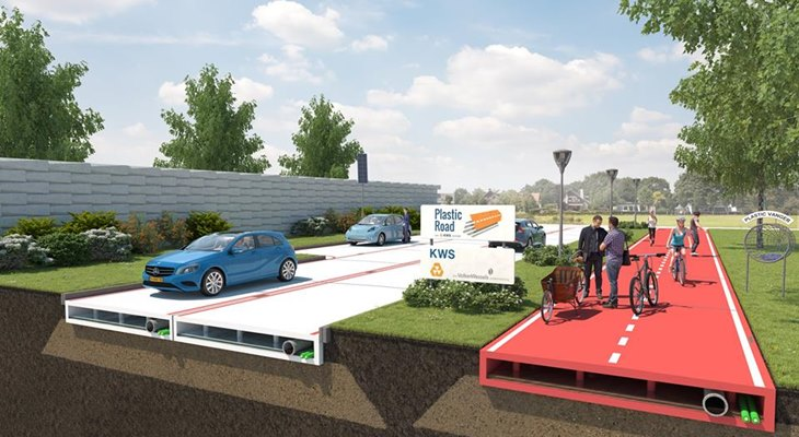 Крупнейшая дорожностроительная компания KWS Infra начинает строить «вечные» пластиковые дороги
