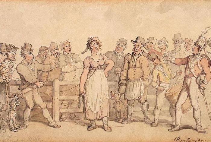 Как в Англии XVIII-XIX в.в. продавали надоевших жён