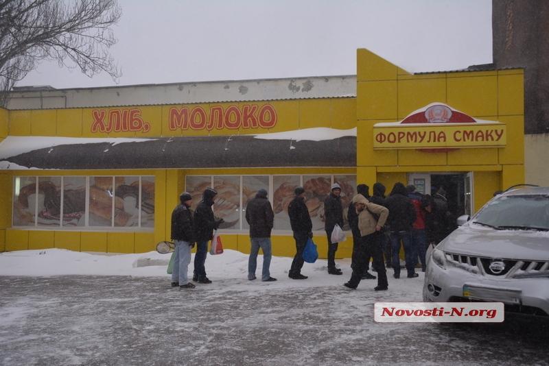 В Николаевских магазинах закончился хлеб