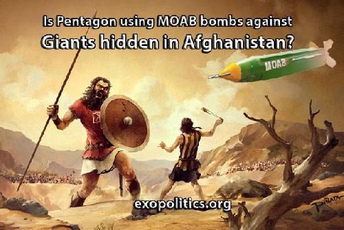Пентагон использует бомбы MOAB против гигантов скрытых в Афганистане?