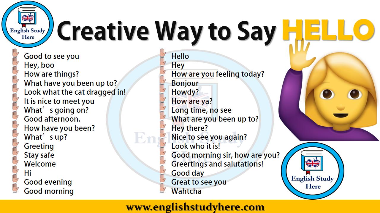30 способов сказать Hello по-английски